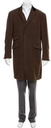 Etro Silk & Cashmere-Blend Overcoat