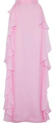 Temperley London Allure Ruffled Silk-chiffon Maxi Skirt