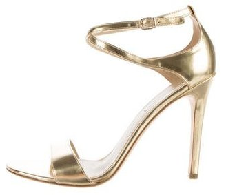 Via Spiga Metallic Ankle Strap Sandals $75 thestylecure.com