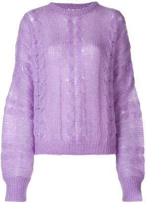 Miu Miu lightweight knitted sweater