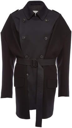 Maison Margiela Trench Coat with Wool and Cotton