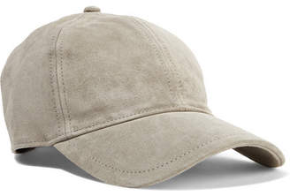 Rag & Bone Marilyn Leather-trimmed Suede Baseball Cap - Light gray