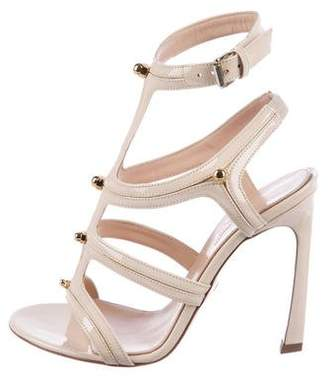 Giambattista Valli Patent Leather Cage Sandals