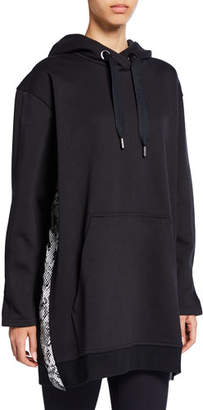 adidas by Stella McCartney Oversized Pullover Hoodie w/ Snake-Print Sides