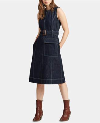 28005ec544 Polo Ralph Lauren Denim Fit   Flare Cotton Dress