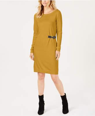 Michael Kors Buckle-Trim Sweater Dress, Created for Macy's