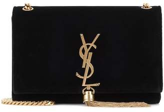 Saint Laurent Small Kate Tassel velvet crossbody bag