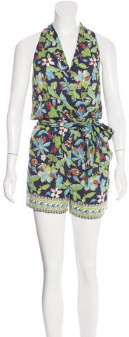 Tory Burch Tory Burch Printed Sleeveless Romper