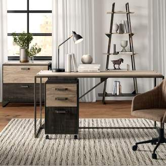 Greyleigh Edgerton Industrial 4 Piece Desk Office Suite