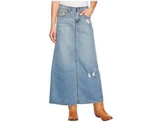 Stetson Long Denim Skirt w/ Back Slit