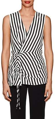 Derek Lam Women's Striped Silk Sleeveless Blouse