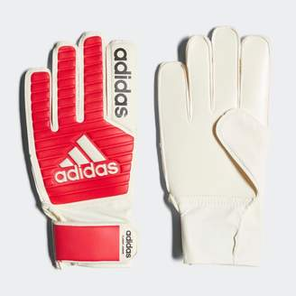 adidas Junior Classic Goalkeeper Gloves Real Coral/White