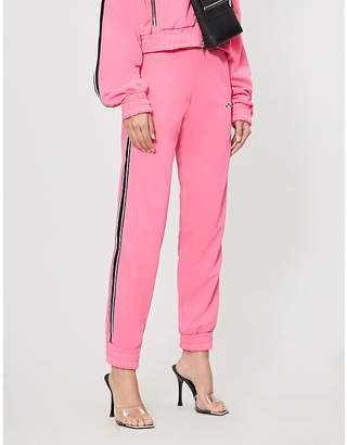 Amiri Striped-trim stretch-jersey jogging bottoms
