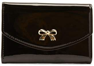 Forever 21 Faux Patent Leather Bow Wallet