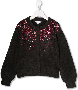 Little Marc Jacobs sequin knitted cardigan