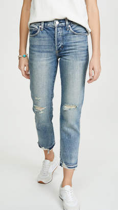 Amo Rigid Babe High Rise Slim Straight Jeans
