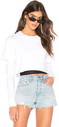 Monrow Double Layer Long Sleeve Athletic Top
