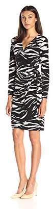 Lark & Ro Women's Long Sleeve Wrap Dress