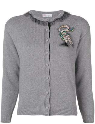 RED Valentino embellished patch cardigan