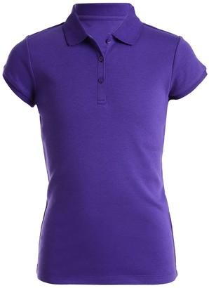 71a186a8f Chaps Girls 4-16   Plus School Uniform Picot Polo Shirt