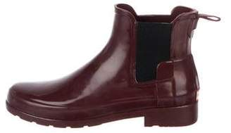 Hunter Rubber Round-Toe Ankle Boots