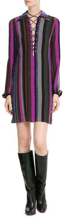Emilio Pucci Emilio Pucci Striped Silk Dress