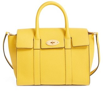 Mulberry 'Small Bayswater' Leather Satchel - Yellow $1,295 thestylecure.com