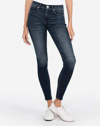 Express Mid Rise Stretch+ Performance Zip Ankle Jean Leggings