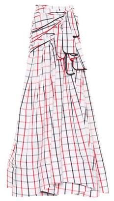 Tri-Tie checked maxi skirt