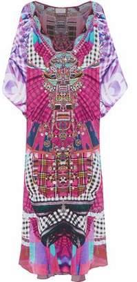 Camilla Desert Discotheque Crystal-Embellished Printed Silk Crepe De Chine Kaftan