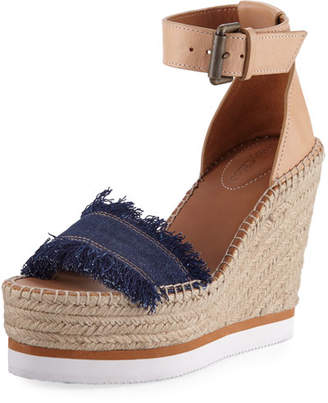 See by Chloe Glyn 70mm Canvas & Leather Espadrille Sandal