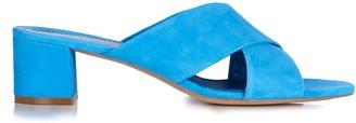 Mansur Gavriel Suede crossover sandals
