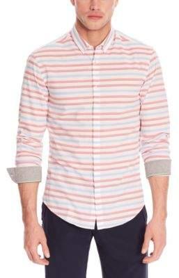 BOSS Hugo Cotton Sport Shirt, Slim Fit Belfiore XXL Open Red
