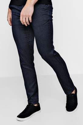 boohoo Slim Fit Ankle Grazer Pinstripe Trouser
