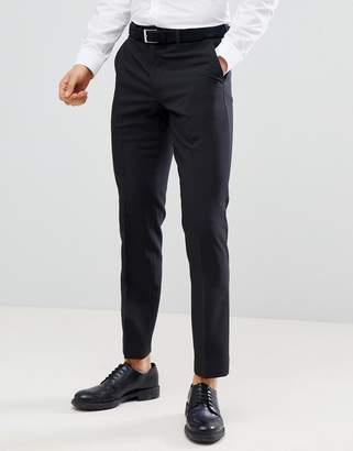 Next Slim Fit Smart Pants In Black