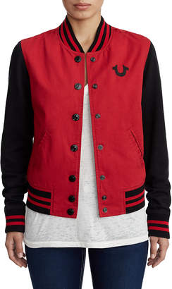 Women S Red Denim Jacket Shopstyle