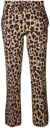 P.A.R.O.S.H. cropped leopard print trousers