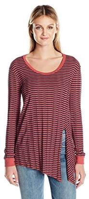 Three Dots Women's Long Sleeved Knot Top