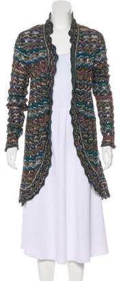 Calypso Semi-Sheer Drape-Front Cardigan