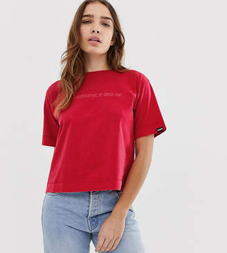 Napapijri Sait cropped t-shirt in red
