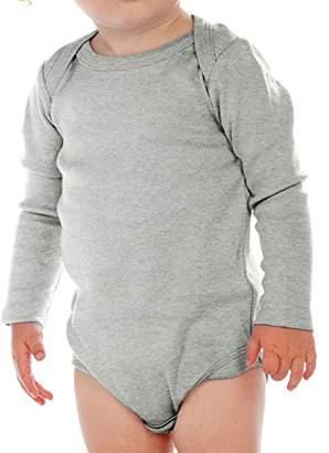 Kavio Unisex Infants Lap Shoulder Long Sleeve Onesie 24M