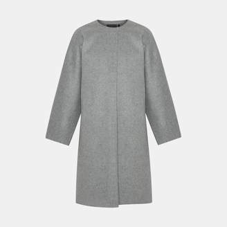 Theory Wool-Cashmere Rounded Coat