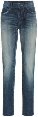 Saint Laurent Midblue skinny distressed jeans