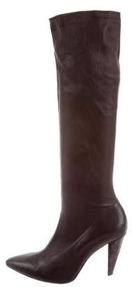 Clergerie Leather Pointed-Toe Boots