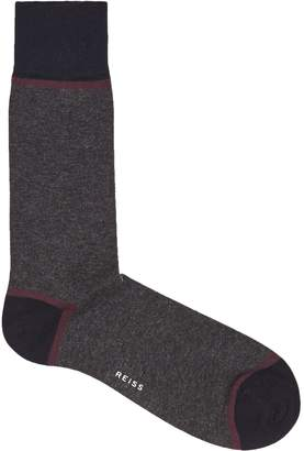Reiss ROTER COLOUR BLOCKED SOCKS Dark Grey