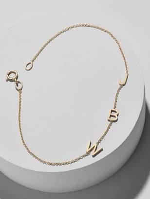 Maya Brenner Mini Letter Bracelet