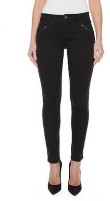 Jordache Women's Zippered Slat Pocket Skinny Jean