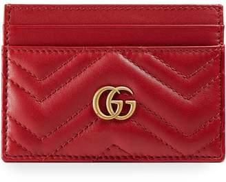 28d0fe2f150 Gucci Marmont Card Case - ShopStyle