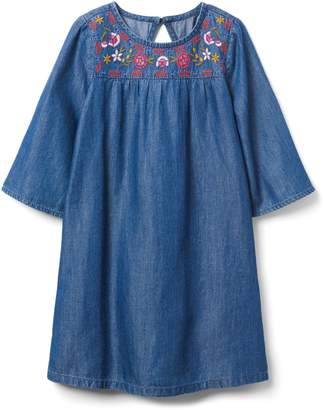 Crazy 8 Crazy8 Embroidered Chambray Dress