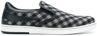 Tomas Maier chequer canvas slip on